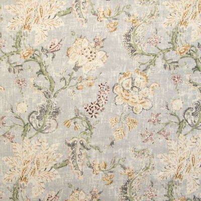 B9635 Pearl Grey Fabric: E36, LARGE SCALE FLORAL PRINT, GREY FLORAL PRINT, GRAY FLORAL PRINT, MULTICOLORED GREY FLORAL PRINT