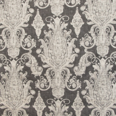 B9636 Peppercorn Fabric: E36, GRAY SCROLL, GREY SCROLL, LARGE SCALE SCROLL, LARGE SCALE MEDALLION, GRAY PRINT, GREY PRINT