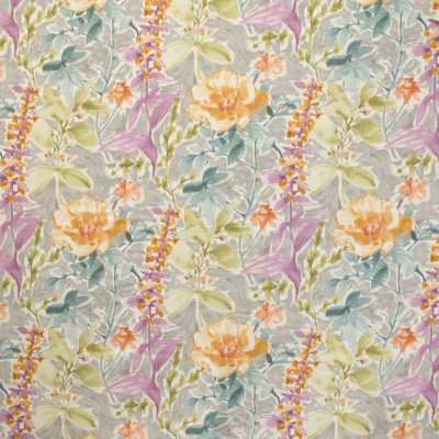 B9638 Silver Fabric: E36, GRAY FLORAL PRINT, COTTON PRINT, GRAY COTTON PRINT, GREY COTTON PRINT, WATERCOLOR PRINT