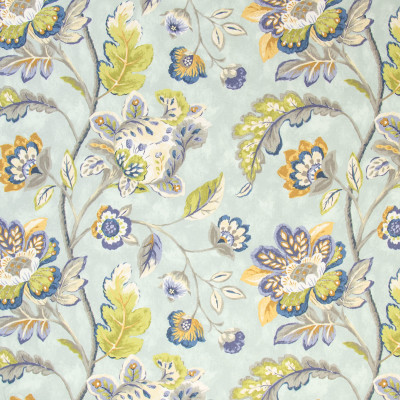 B9640 Aegean Fabric: E36, LARGE SCALE FLORAL PRINT, PERIWINKLE FLORAL PRINT, PURPLE FLORAL PRINT, BLUE PURPLE FLORAL PRINT