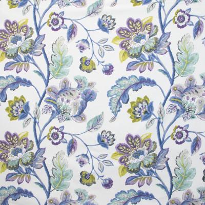 B9641 Cornflower Fabric: E36, LARGE SCALE FLORAL PRINT, BLUE FLORAL PRINT, PINK FLORAL PRINT, MULTICOLORED FLORAL PRINT, SPA COLORED PRINT, LIGHT BLUE FLORAL