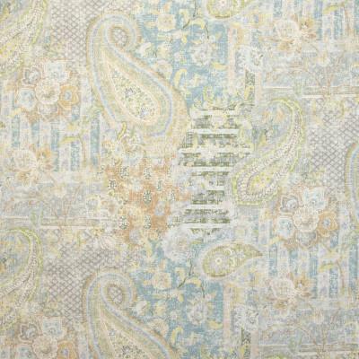 B9643 Blue Moon Fabric: E36, CARPET MEDALLION, VINTAGE CARPET MEDALLION, FLORAL PRINT, MEDALLION PRINT, PAISLEY PRINT