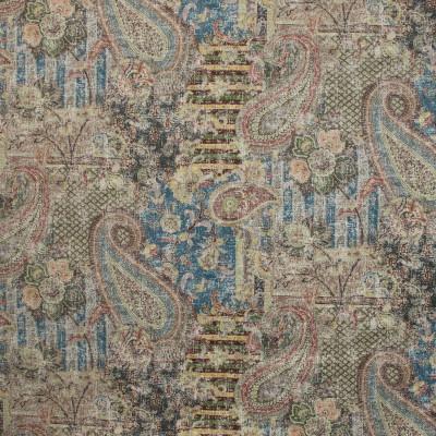 B9644 Aubusson Fabric: E36, CARPET MEDALLION, VINTAGE CARPET MEDALLION, FLORAL PRINT, MEDALLION PRINT, PAISLEY PRINT