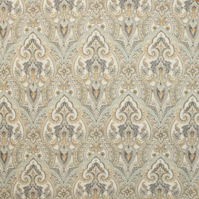 B9655 Vintage Fabric: E37, LARGE SCALE MEDALLION, LARGE SCALE SCROLL, LARGE REPEAT, PAISLEY PRINT, LINEN PRINT
