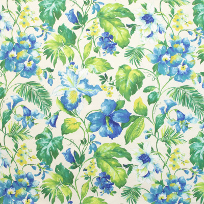 B9680 Caribbean Fabric: E38, LARGE SCALE PALM PATTERN, LARGE SCALE FLORAL, TROPICAL PATTERN, TROPICAL PRINT