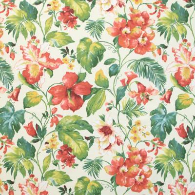 B9695 Garnet Fabric: E38, TROPICAL FLORAL PRINT, LINEN PRINT, TROPICAL PALM PRINT, RED FLORAL PRINT