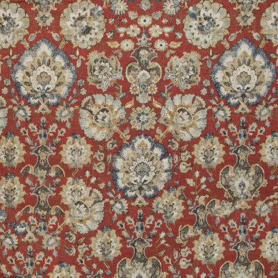 B9701 Carnelian Fabric: E38, RED FLORAL PRINT, LARGE SCALE FLORAL PRINT, LINEN PRINT, RED FLORAL PRINT