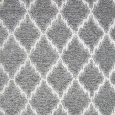 B9710 Silver Fabric: E39, LARGE SCALE DIAMOND, DIAMOND IKAT, GRAY IKAT, GREY IKAT, GRAY DIAMOND, GREY DIAMOND, GEOMETRIC, DIAMOND CHENILLE