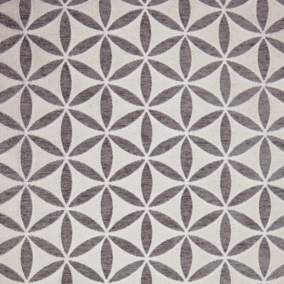 B9719 Charcoal Fabric: E39, GRAY FLORAL, GREY FLORAL, CIRCLE, CHARCOAL, SLATE, PEWTER, GEOMETRIC