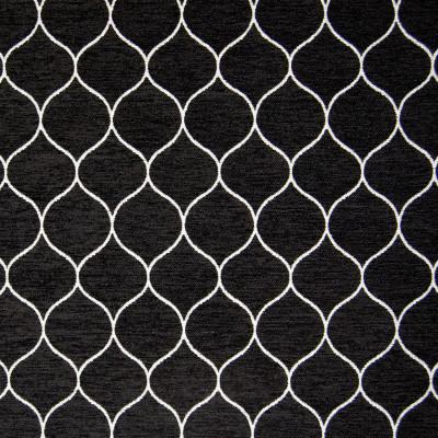 B9734 Black Fabric: E39, BLACK OGEE, BLACK LATTICE, CHENILLE, MIDNIGHT, ONYX, GEOMETRIC, BLACK GEOMETRIC