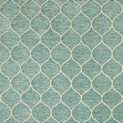 B9770 Mist Fabric: E40, OGEE, AQUA, CHENILLE, TEAL, CHAIR SCALE PATTERN, SMALL SCALE PATTERN, LIGHT BLUE GEOMETRIC, LIGHT BLUE, LATTICE
