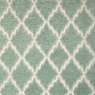 B9776 Mist Fabric: E40,  DIAMOND, DIAMOND CHENILLE, GEOMETRIC CHENILLE, IKAT CHENILLE, TEAL, SEAFOAM, MIST
