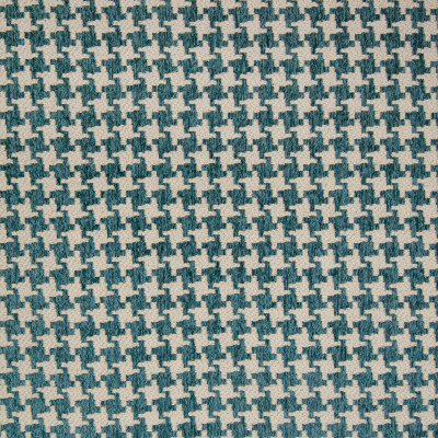 B9790 Turquoise Fabric: E40, HOUNDSTOOTH, TEAL HOUNDSTOOTH, AQUA HOUNDSTOOTH, TURQUOISE HOUNDSTOOTH, SMALL SCALE HOUNDSTOOTH, GEOMETRIC