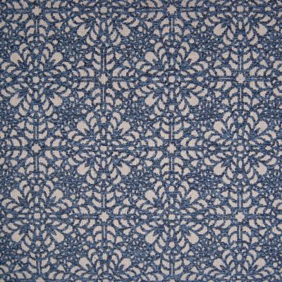 B9818 Denim Fabric: E40, FLORAL, FLORAL CHENILLE, JACQUARD CHENILLE, LARGE SCALE FLORAL, WOVEN FLORAL, COBALT, INDIGO, NAVY, DENIM