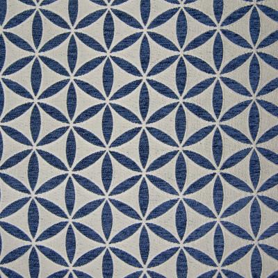 B9820 Navy Fabric: E40, BLUE FLORAL, INDIGO FLORAL, BLUE GEOMETRIC, JACQUARD, CIRCLE, INDIGO, NAVY, COBALT
