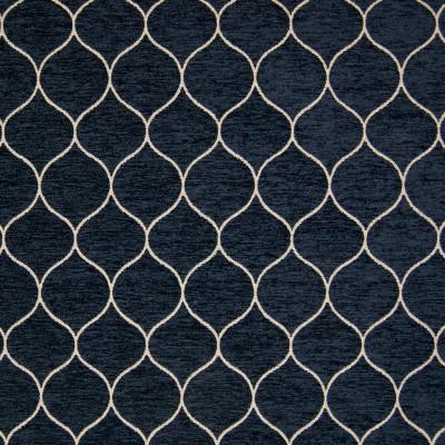 B9826 Midnight Blue Fabric: E67, E40, OGEE, BLUE OGEE, MIDNIGHT BLUE GEOMETRIC, WOVEN GEOMETRIC, LATTICE GEOMETRIC, COBALT, NAVY, INDIGO