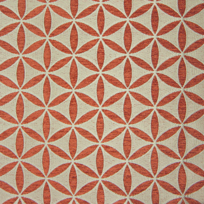 B9851 Russet Fabric: E41, FLORAL, GEOMETRIC, ORANGE, TANGERINE, TUSCAN, SANTA FE, RUSSET ORANGE, RUSSET, ORANGE GEOMETRIC, CIRCLE
