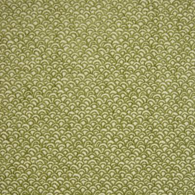 B9881 Avocado Fabric: E41, SMALL SCALE GEOMETRIC, SCALLOP PATTERN, SCALLOPED PATTERN, SHELL PATTERN, AVOCADO, CITRUS, CELERY, GREEN