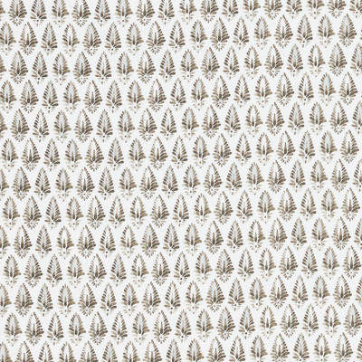 F1251 Java Fabric: E54, FLORAL, MEDALLION, BROWN, NEUTRAL, PRINT, FAUX LINEN, LINEN BLEND, MADE IN USA, CONTEMPORARY