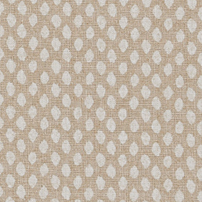 F1255 Flax Fabric: E54, DOT, POLKA DOT, PRINT, FAUX LINEN, NEUTRAL, NATURAL, FLAX, MADE IN USA
