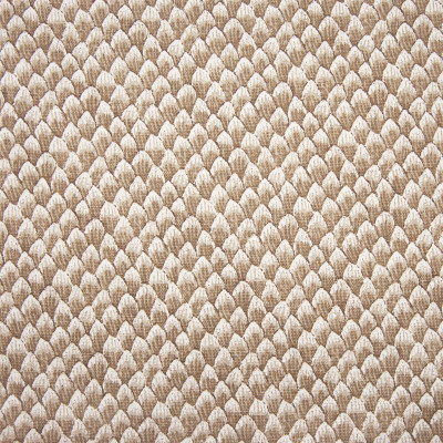 F1261 Sienna Fabric: E54, PETALS, SCALES, SCALLOP, PRINT, SIENNA, BROWN, FAUX LINEN, LINEN BLEND, MADE IN USA