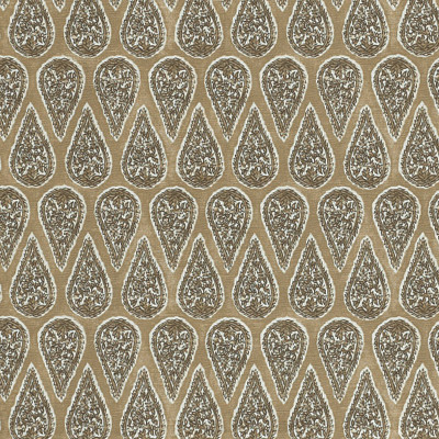 F1266 Sand Fabric: E54, TEARDROP, MEDALLION, PRINT, SAND, NEUTRAL, COTTON, COTTON PRINT, 100% COTTON, MADE IN USA