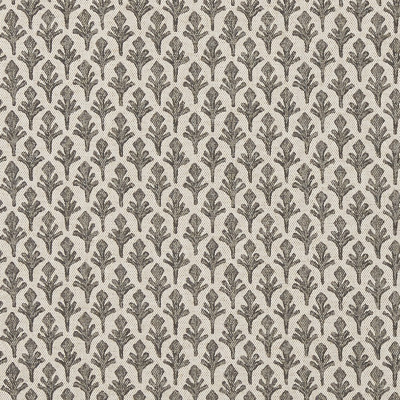 F1287 Stone Fabric: E54, FERN, FLORAL, SMALL-SCALE, GRAY, NEUTRAL, PRINT, LEAF, FOLIAGE, MADE IN USA
