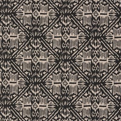 F1293 Granite Fabric: E54, DIAMOND, GEOMETRIC, GLOBAL, TRIBAL, AZTEC, PRINT, BLACK, NATURAL, MADE IN USA
