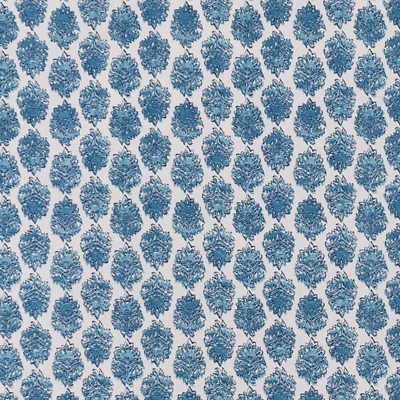 F1300 Seaside Fabric: E55, FLORAL, BLUE, MEDALLION, PRINT, COTTON, COTTON PRINT, 100% COTTON, MADE IN USA