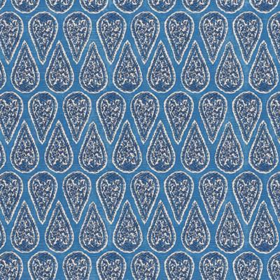 F1302 Cobalt Fabric: E55, BLUE PAISLEY PRINT, COBALT PAISLEY PRINT, COTTON PRINT, MEDIUM SCALE PRINT, FLORAL PRINT, BLUE FLORAL COTTON, COASTAL PRINT, COASTAL INSPIRED