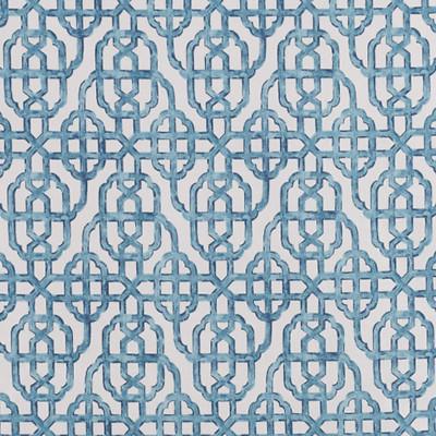 F1304 Seaside Fabric: E55, LATTICE, LATTICEWORK, LATTICE PRINT, GEOMETRIC PRINT, LATTICE PRINT, COTTON PRINT, GEOMETRIC COTTON PRINT, BLUE, INDIGO, COASTAL PRINT, COASTAL INSPIRED