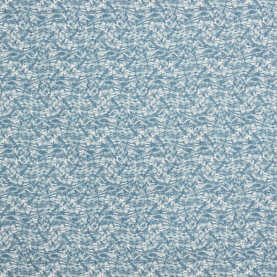 F1307 Blueridge Fabric: E55, PALM PATTERN, COTTON PRINT, BLUE PALM, BLUE LEAF, BLUE FLORAL PRINT, AQUA, LEAFY PRINT, LEAF PRINT, COASTAL PRINT, COASTAL INSPIRED, TROPICAL, BEACH