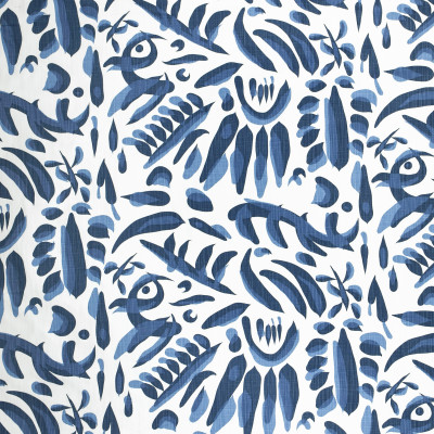 F1314 Ocean Fabric: E55, ABSTRACT, CONTEMPORARY, TRIBAL, BLUE, OCEAN, LINEN BLEND, FAUX LINEN, MADE IN USA, PRINT