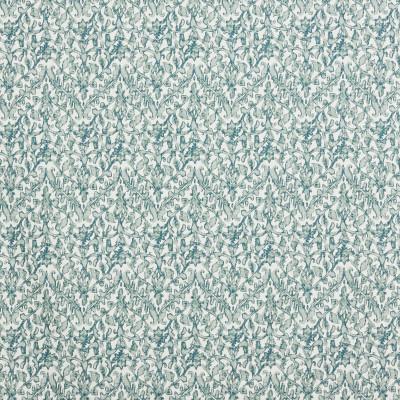 F1328 Eucalyptus Fabric: E55, CHEVRON, FLORAL, MEDALLION, GREEN, PRINT, FAUX LINEN, LINEN BLEND, MADE IN USA