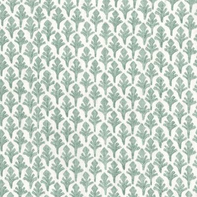 F1330 Eucalyptus Fabric: E55, SMALL-SCALE, FERN, LEAF, FOLIAGE, PRINT, FAUX LINEN, LINEN BLEND, MADE IN USA, GREEN, EUCALYPTUS