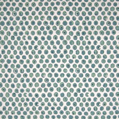 F1333 Spa Fabric: E55, DOT, POLKA DOT, LINEN BLEND, FAUX LINEN, SPA, BLUE, PRINT, MADE IN USA