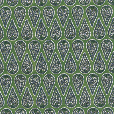 F1340 Kelly Fabric: E55, GREEN PAISLEY, GREEN FLORAL PRINT, PAISLEY PRINT, COTTON PAISLEY PRINT, KELLY GREEN COTTON PRINT, COASTAL PRINT, COASTAL INSPIRED