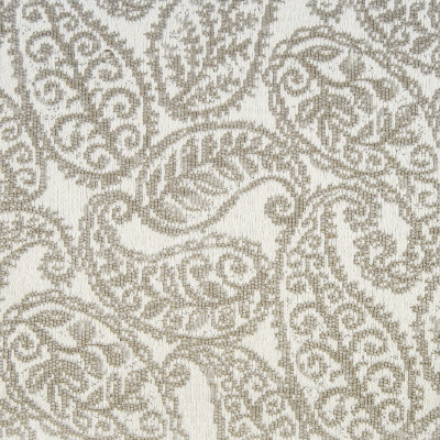 F1350 Wheat Fabric: E56, LARGE SCALE PAISLEY, CONTEMPORARY, WOVEN DESIGN, NEUTRAL, IVORY WHITE, LARGE DESIGN,