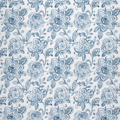 F1412 Denim Fabric: E57, BLUE FABRIC, FLORAL PRINT, FLORAL, BLUE FLORAL, PRINT, BLUE PRINT