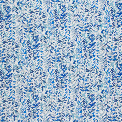 F1461 Indigo Fabric: E58, CRYPTON HOME, CRYPTON FINISH, PERFORMANCE FABRIC, PERFORMANCE FABRICS, STAIN RESISTANT, EASY TO CLEAN,CHUNKY, LIGHT BLUE, DARK BLUE, FLORAL, TROPICAL, LEAVES