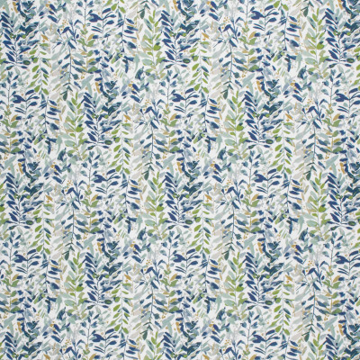 F1482 Leaf Fabric: E58, CRYPTON HOME, CRYPTON FINISH, PERFORMANCE FABRIC, PERFORMANCE FABRICS, STAIN RESISTANT, EASY TO CLEAN, LIGHT BLUE, DARK BLUE, FLORAL, TROPICAL, LEAVES, GREEN, BLUE FLORAL, GREEN FLORAL, DARK BLUE LEAVES