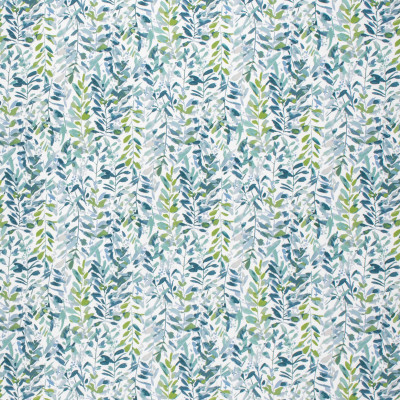 F1488 Fern Fabric: E58, CRYPTON HOME, CRYPTON FINISH, PERFORMANCE FABRIC, PERFORMANCE FABRICS, STAIN RESISTANT, EASY TO CLEAN, LIGHT BLUE, FLORAL, TROPICAL, LEAVES, GREEN, BLUE FLORAL, GREEN FLORAL,