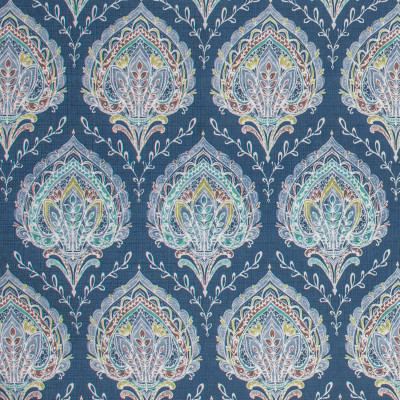 F1501 Indigo Fabric: E58, CRYPTON HOME, CRYPTON FINISH, PERFORMANCE FABRIC, PERFORMANCE FABRICS, STAIN RESISTANT, EASY TO CLEAN, LIGHT BLUE, FLORAL, PAISLEY, BLUE FLORAL,