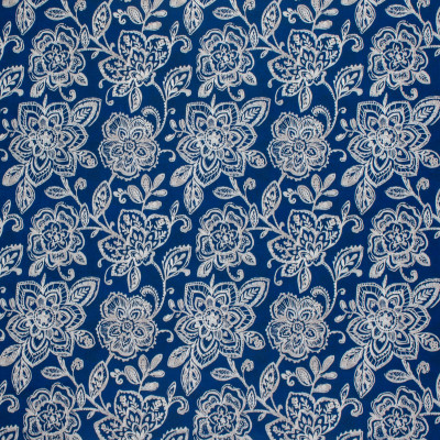 F1504 Blue Fabric: E58, CRYPTON HOME, CRYPTON FINISH, PERFORMANCE FABRIC, PERFORMANCE FABRICS, STAIN RESISTANT, EASY TO CLEAN, FLORAL, DAKR BLUE, BLUE FLORAL, WHITE AND BLUE, WHITE AND BLUE FLORAL, PRINT, FLORAL PRINT