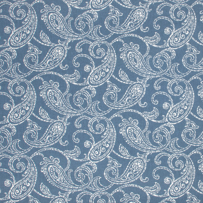 F1507 Indigo Fabric: E58, CRYPTON HOME, CRYPTON FINISH, PERFORMANCE FABRIC, PERFORMANCE FABRICS, STAIN RESISTANT, EASY TO CLEAN, BLUE,  SWIRLS, BLUE SWIRLS, WHITE AND BLUE, WHITE AND BLUE SWIRLS, SCROLL, WHITE SCROLL, BLUE AND WHITE SCROLL