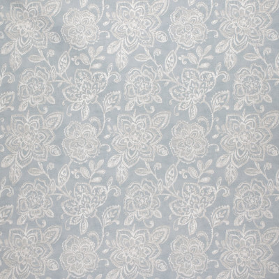 F1509 Aluminum Fabric: E58, CRYPTON HOME, CRYPTON FINISH, PERFORMANCE FABRIC, PERFORMANCE FABRICS, STAIN RESISTANT, EASY TO CLEAN, BLUE, FLORAL, WHITE AND BLUE, WHITE AND BLUE FLORAL, LIGHT BLUE, FLORAL, PRINT, FLORAL PRINT