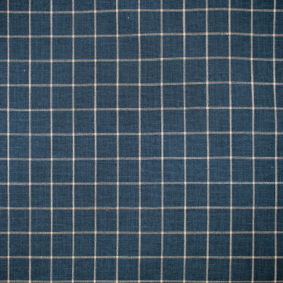 F1685 Wedgewood Fabric: E62, CHECK, WOVEN CHECK, BLUE CHECK, BLUE AND NEUTRAL, BLUE AND NEUTRAL CHECK, THIN LINE CHECK, THIN CHECK, SMALL CHECK, WOVEN CHECK, BLUE WOVEN, DENIM, WEDGEWOOD