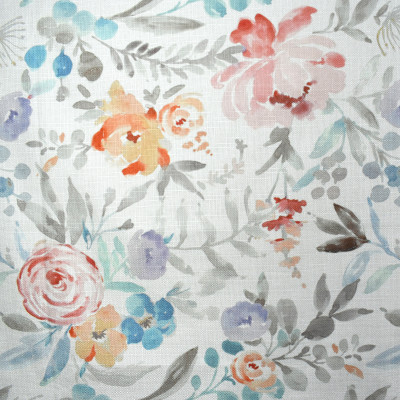 F2131 Petal Fabric: E71, ORANGE AND BLUE PRINT, FLORAL PRINT, ORANGE AND BLUE FLORAL, ORANGE FLORAL, BLUE FLORAL, MULTICOLOR PRINT, MULTICOLOR FLORAL