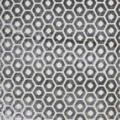 F2181 Ash Fabric: E69, GEOMETRIC, VELVET, TEXTURED, NEUTRAL, GRAY, GREY, HEXAGON, VELVET, GREY HEXAGON, GRAY HEXAGON