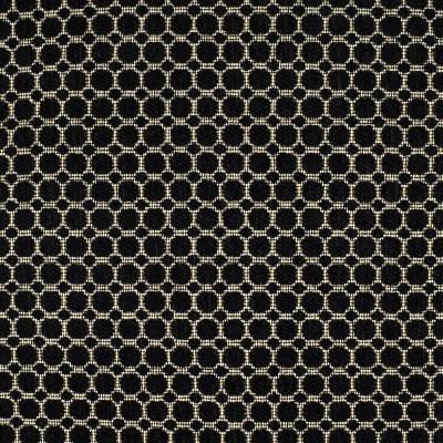 F2240 Jet Fabric: E69, BLACK, TEXTURE, TEXTURED, GEOMETRIC, CIRCLES, BLACK CIRCLES, TEXTURED CIRCLES, WEAVE, WOVEN